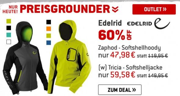 Edelrid - Softshelljacke & Hoodie um 60% reduziert
