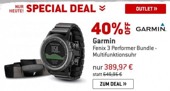 Garmin - Fenix 3 Performer Bundle - Multifunktionsuhr um 40% reduziert