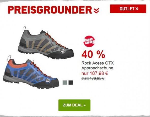 Hanwag Rock Access GTX Approach Schuhe um 40% reduziert