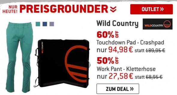 Wild Country - Crashpad um 50% & Kletterhosen um 60% reduziert