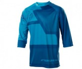 Bike Shirt Drift Herren navy blue/electric blue/sky blue