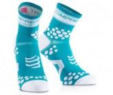 Compressport Lauf Socken Racing V2 Unisex Fluo Blue
