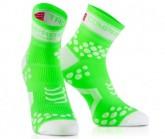 Compressport Lauf Socken Racing V2 Unisex Fluo Green