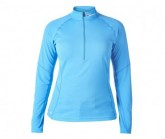 Funktionsshirt Tech Tee II Base ZIP LS Damen blue