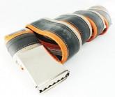 Gürtel Inner Tube Belt unisex orange/lightbrown