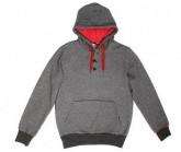 Hoodie Crush Herren dark grey/red