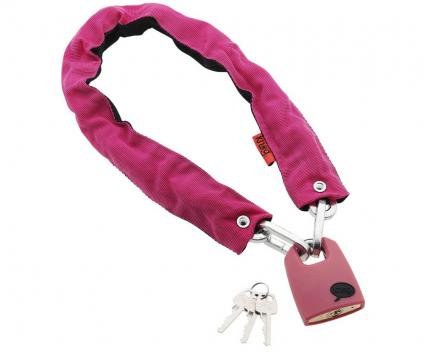 Kettenschloss Straight Jacket  Fatty pink/black