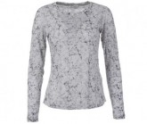 Longsleeve Base 140 Damen fresh white/ice blossom print