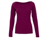 Longsleeve Base Scoop Neck 175 Damen loganberry melange