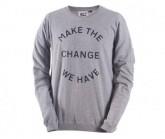Longsleeve Sweater Eco Friel Herren grey melange