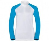 Midlayer 1/2 Zip Pazola Damen white-vivid blue
