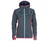 Polartec Jacke Kula Damen whales grey/fresh duck blue