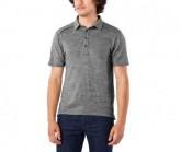 Polo Shirt Merino Herren pewter heather