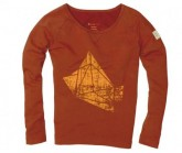 Pullover Polygon Dream Damen Rusty Red