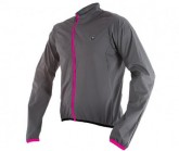 Rad Windjacke Ultralight Unisex dunkelgrau/pink
