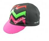 Radmütze Kendi Unisex schwarz/pink