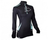 Shirt Wintertrail ML Damen black/turquoise