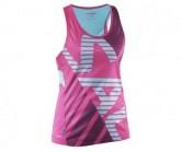 Singlet Race Damen Pink Glo/Turquoise