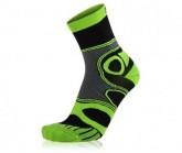 Socke Mountainbike unisex schwarz/neon grün