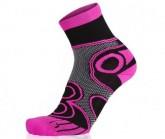 Socke Running Ambition Long unisex schwarz/pink