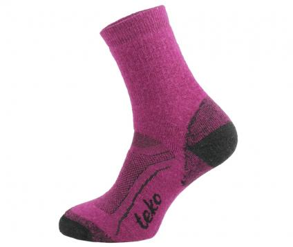 Socken SIN3RGI S3 Midweight Hiking Damen cranberry