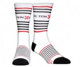 Socken Stripes Unisex white/black/red