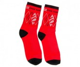 Socken Unisex red/black