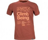 T-Shirt Climb Being Herren rot