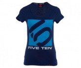 T-Shirt Logo Damen night sky/aqua