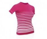 T-Shirt Ultralight 70 Damen pink/white stripes