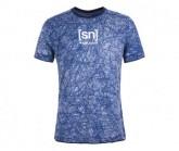 T-Shirt Waterfront Printed Herren blue melange/sketch cloud print