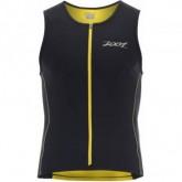 Triathlon Shirt Performance FZ Tri Tank Herren black/pure yellow