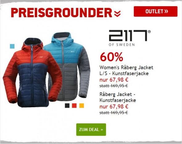 2117 of Sweden Råberg Jacket - Kunstfaserjacke für Männer und Frauen um 60% reduziert
