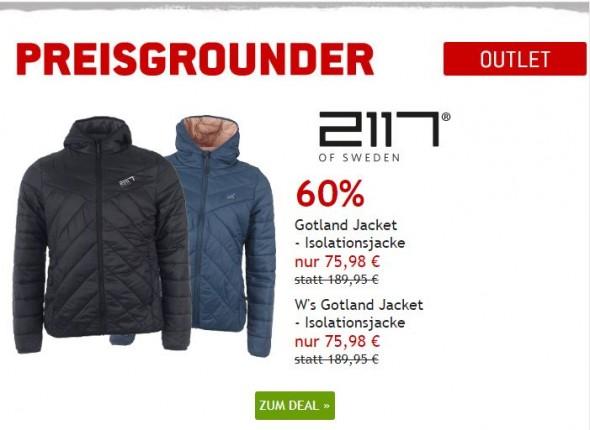 2117 of Sweden Kunstfaserjacken um 60% reduziert
