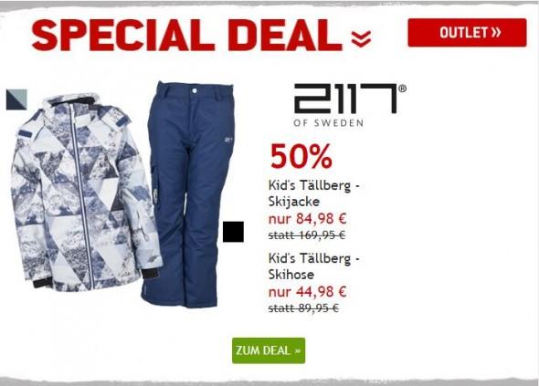 Skibekleidung Kinder von 2117 of Sweden um 50% reduziert