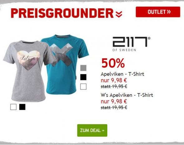 2117 of Sweden T-Shirts um 50% reduziert