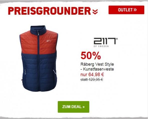 2117 of Sweden Raberg Vest Style - Kunstfaserweste um 50% reduziert