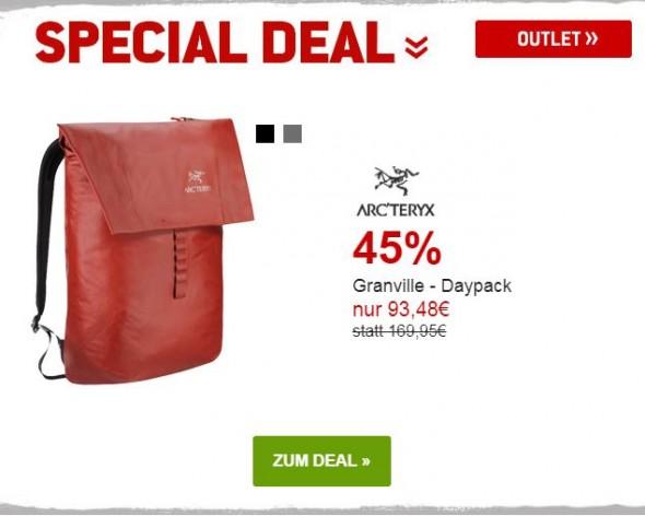 Arcteryx Granville - Daypack um 45% reduziert