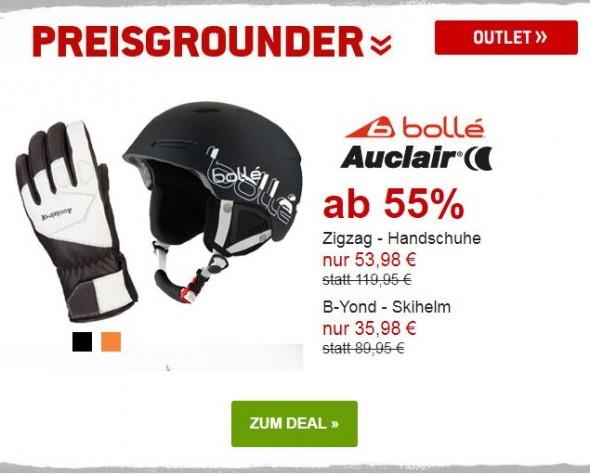 Bollé Skihelm & Auclair Handschuhe um mind. 55% reduziert