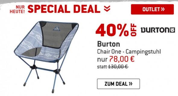Burton - Chair One - Campingstuhlum 40% reduziert