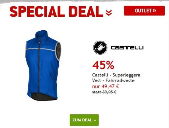 Castelli -Superleggra Vest - Fahrradweste um 45% reduziert