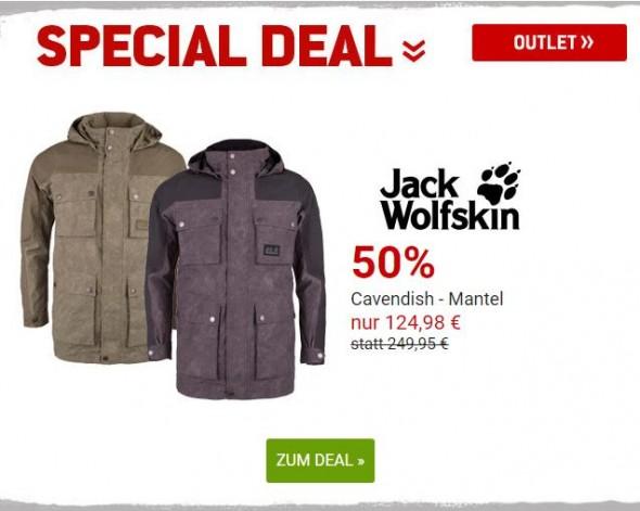 Cavendish Mantel von Jack Wolfskin um 50% reduziert