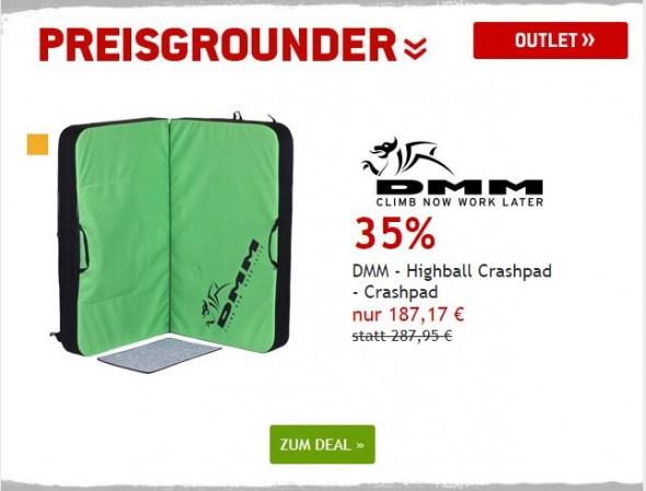 DMM - Highball Crashpad um 35% reduziert