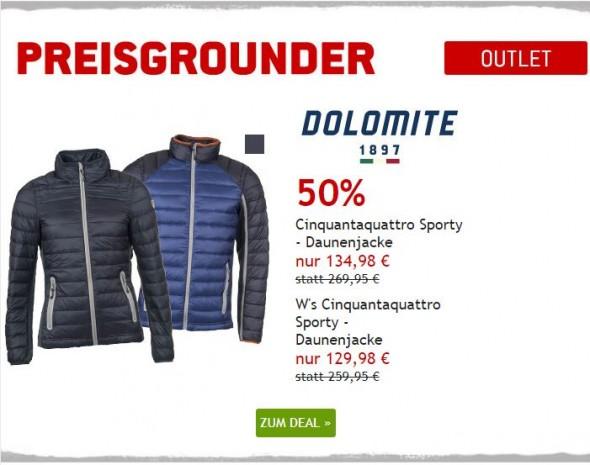 Dolomite Daunenjacken um 50% reduziert