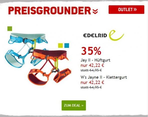 Edelrid Klettergurte um 35% reduziert