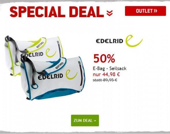 Edelrid Seilsäcke um 50% reduziert