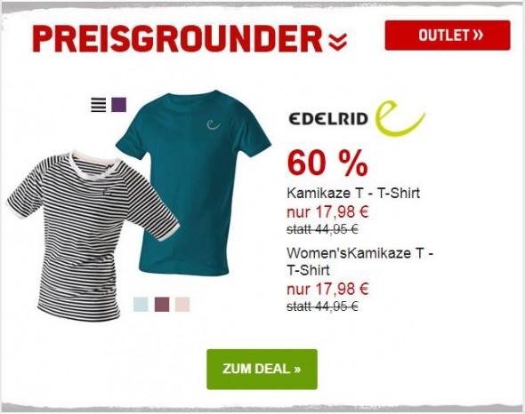 Edelrid Kamikaze Shirts um 60% reduziert