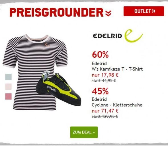 Edelrid T-Shirt & Kletterschuhe bis zu 60% reduziert
