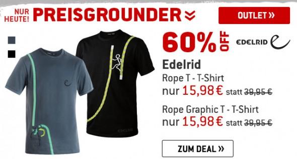 Edelrid T-Shirts um 60% reduziert