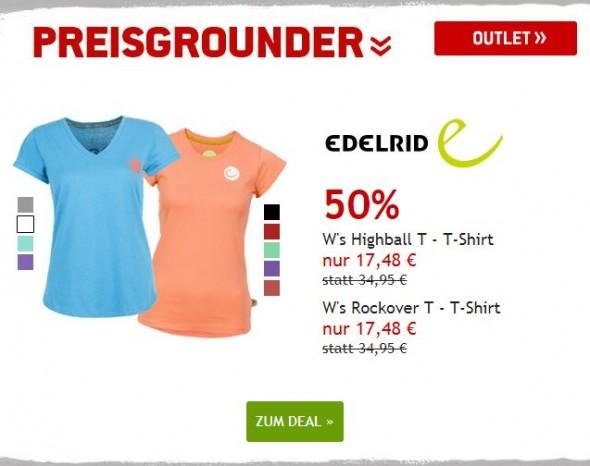 Edelrid T-Shirts um 50% reduziert